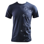 Men's Falling Brass T-Shirt Navy