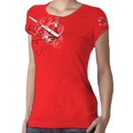Bella Ringspun Ladies Fit T-Shirt, Floral Design
