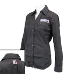 Black Button-up Military Shirt, Ladies