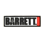 "BARRETT PATCH, 3"" PVC LOGO W/ VELCRO BACK"