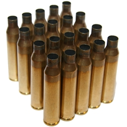 .338 LAPUA MAGNUM ONCE FIRED BRASS, LAPUA HEADSTAMP, BAG OF 50