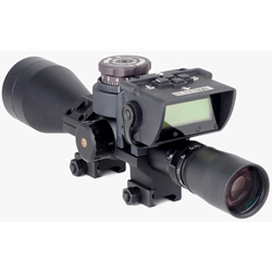 BORS WITH NON-ILLUMINATED LEUPOLD MARK4.5-14X50MM SCOPE, INCLUDES ZERO GAP ULTRA HIGH RINGS
