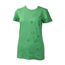 Ladies Falling Brass T-Shirt Green