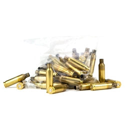 Once Fired Brass, 6.5 Creedmore, Hornady Headstamp, Bag Of 50