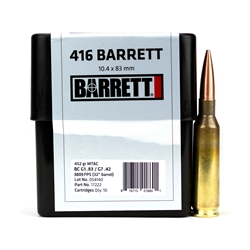 AMMO, .416 Barrett, CEB, 452 GR MTAC, Box of 10