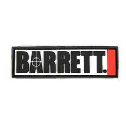 "Barrett Patch, PVC, 3"" Logo w/ Velcro Back"