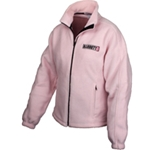 Ladies Fleece Zip Jacket Light Pink