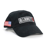 Hat, Black w/ Embroidered Logo and Flag