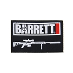 "BARRETT PATCH, 3"" WOVEN BLACK"