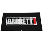 "Barrett Banner, Black with Logo, 24"" x 48"""