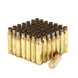 .22-250 Remington,  Once Fired Brass, Various Headstamp, Bag of 50