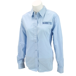 Long Sleeve Button Down Shirt Blue, Ladies