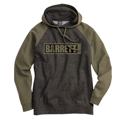 Sweatshirt, Hooded, Charcoal / Army with Barrett Logo